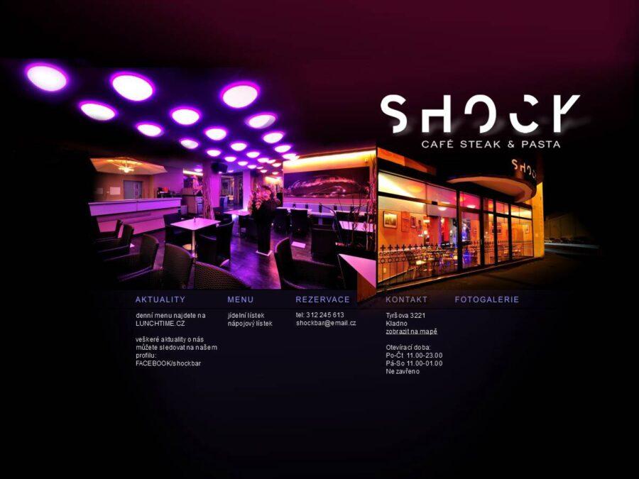 Návrh stránek Shock Bar