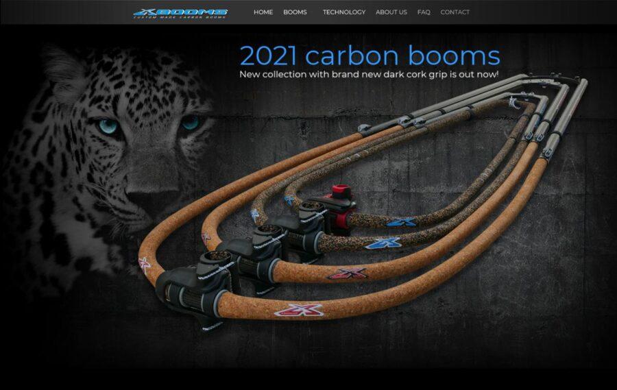 Návrh webdesignu stránek X-BOOMS